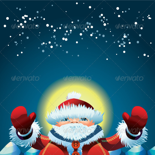 Happy Santa - Characters Vectors