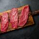 Fresh raw meat beef steaks. Beef tenderloin on wooden board - PhotoDune Item for Sale
