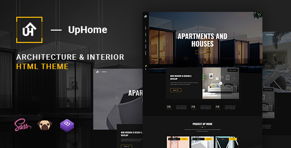 UpHome - Modern Architecture HTML Template by astroon