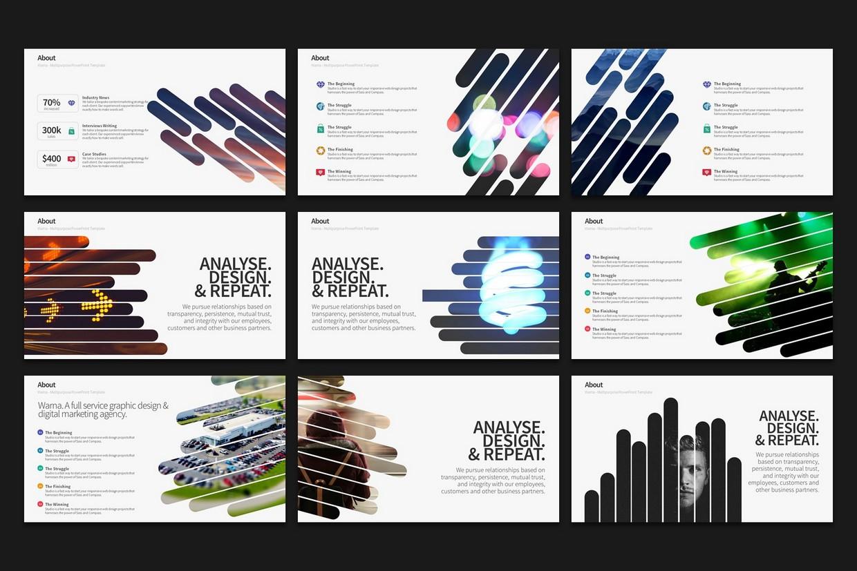 Warna Slides Multi Purpose Powerpoint Template 2020 Free Updates