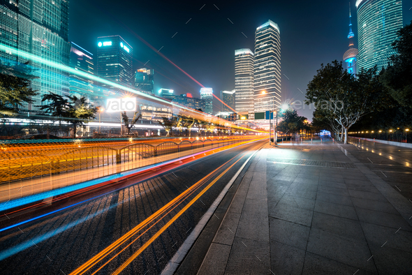 futuristic urban buildings - Stock Photo - Images