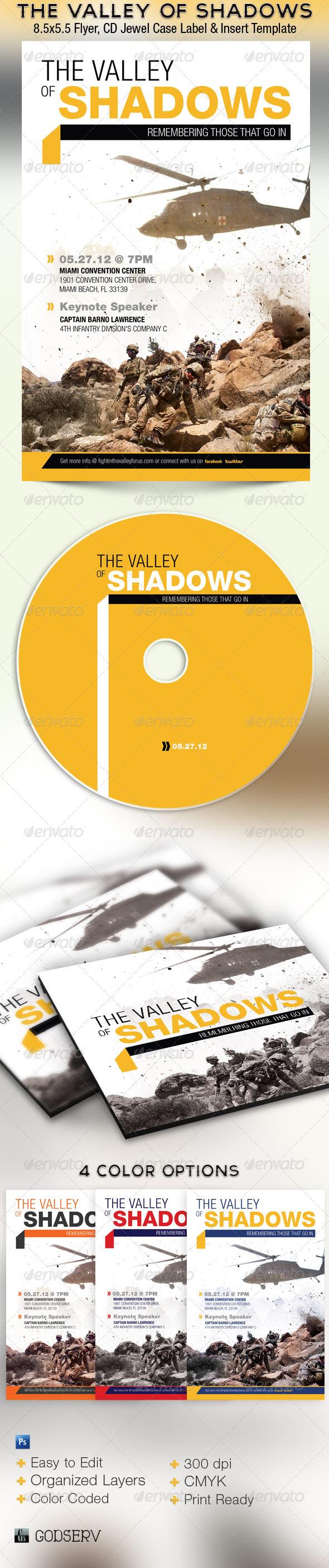 Valley Shadows Flyer CD Template - Church Flyers