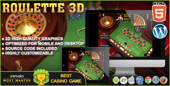 3d Roulette Html5 Casino Game By Codethislab Codecanyon