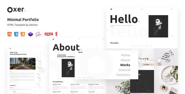 Oxer - Minimal Portfolio HTML Template
