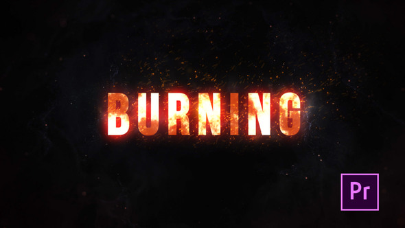 Burning Fire Title – Premiere Pro