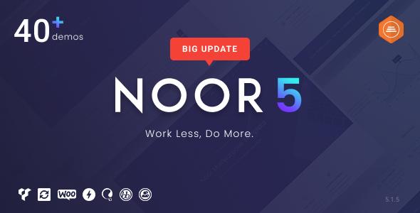 Noor - Minimal Multi-Purpose WordPress Theme, AMP & RTL