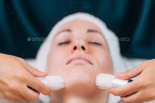 Cleaning Face for Cosmetic Treatment - Stock Photo - Images