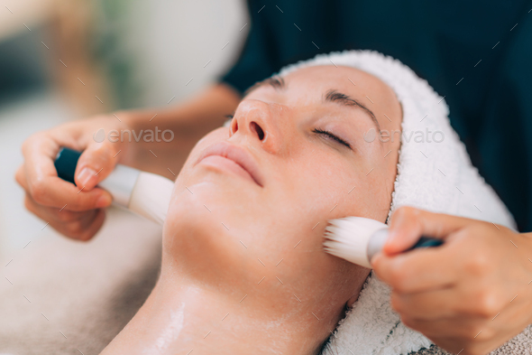 Face Cleansing Before Cosmetic Treatment - Stock Photo - Images