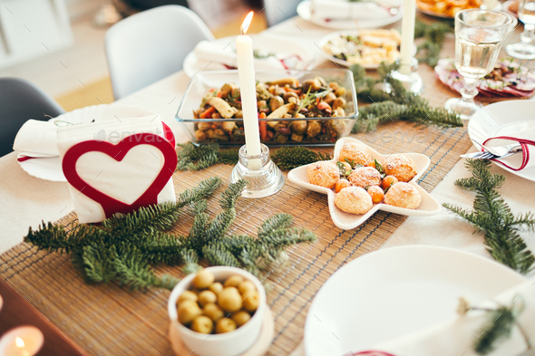 Christmas Dinner Table - Stock Photo - Images