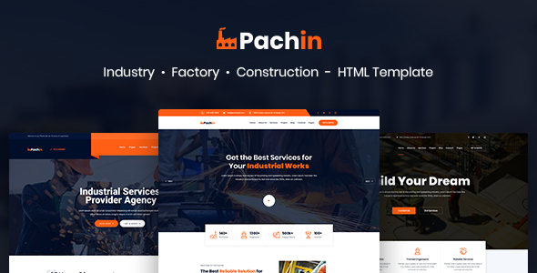 Awesome Pachin - Industry & Factory Business HTML Template
