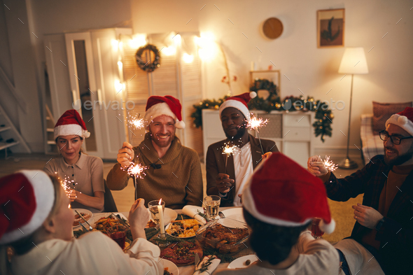 Friends Celebrating New Year Day Together - Stock Photo - Images