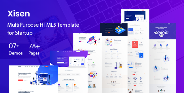 Xisen - Creative HTML5 Template for Saas, Startup & Agency by basictheme
