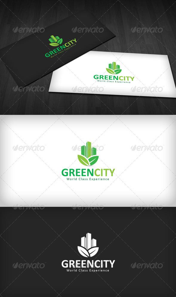 Green City Logo - Buildings Logo Templates