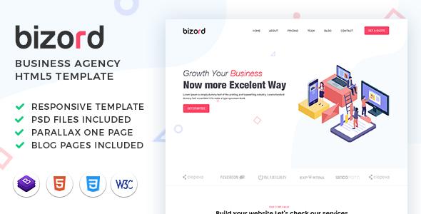 Bizord - Business Agency HTML Template