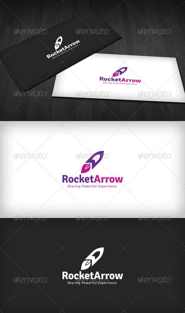 Rocket Arrow Logo - Objects Logo Templates