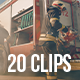 Collection of Working Emergency Team Rescuing People - Pack of 20 Clips - VideoHive Item for Sale