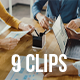 Collection of Happy People Working in Modern Creative Office, Pack of 9 Clips - VideoHive Item for Sale