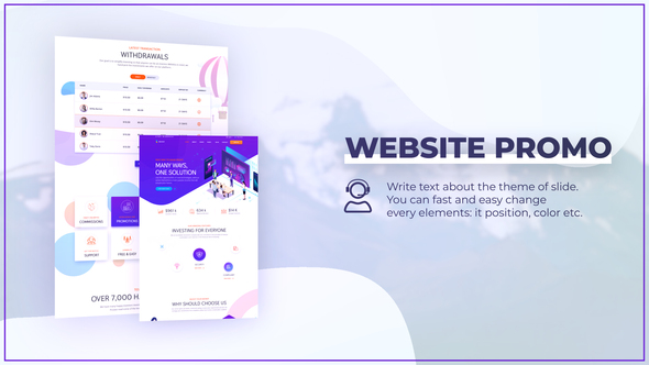 Modern Website Promo with Devices Mockup Download