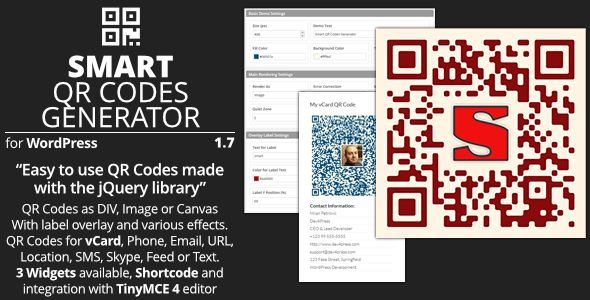 Smart QR Codes Generator - Plugin for WordPress - Featured Image
