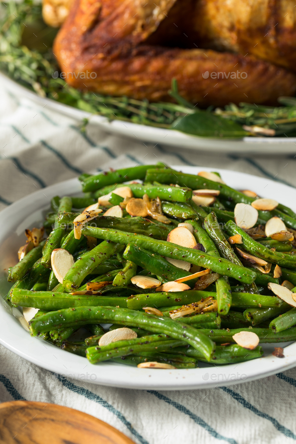 Homemade Sauteed Green Beans - Stock Photo - Images