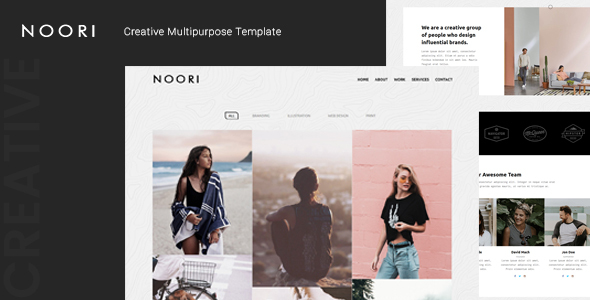 Noori — Creative Multipurpose Template by thememor