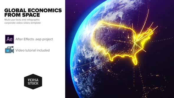 Global Economics From Space Infographics Download