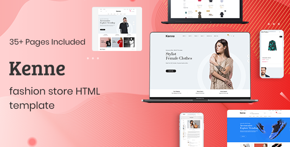 Kenne - Fashion Store HTML Template by codecarnival