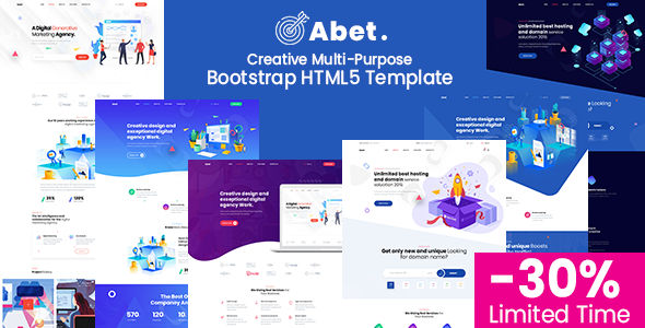 Abet - MultiPurpose Bootstrap HTML5 Template by UIdeck