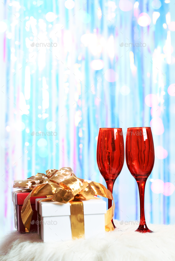 gifts with red glasses - Stock Photo - Images