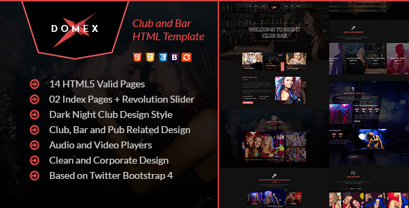 Domex - Night Club HTML Template by webstrot