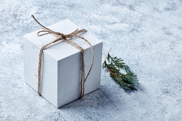 white gift box - Stock Photo - Images