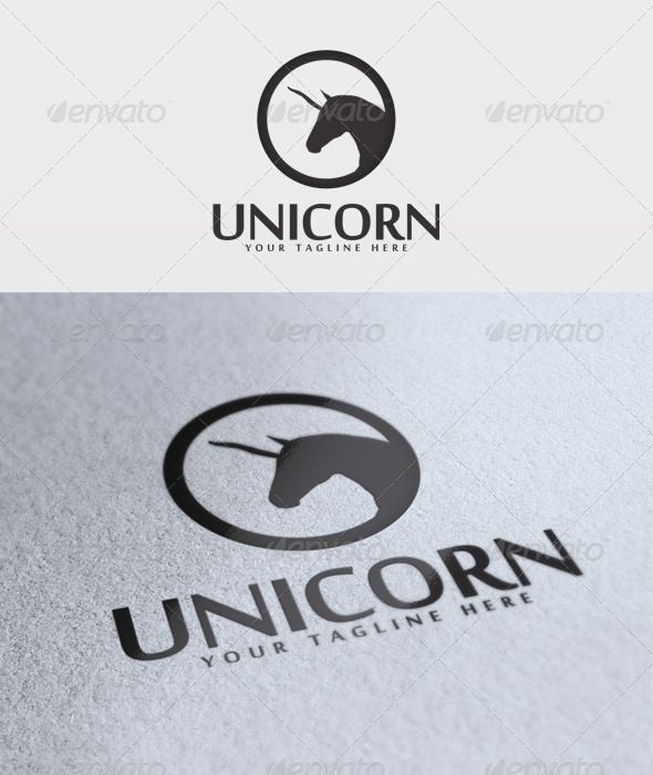 Unicorn Logo - Animals Logo Templates