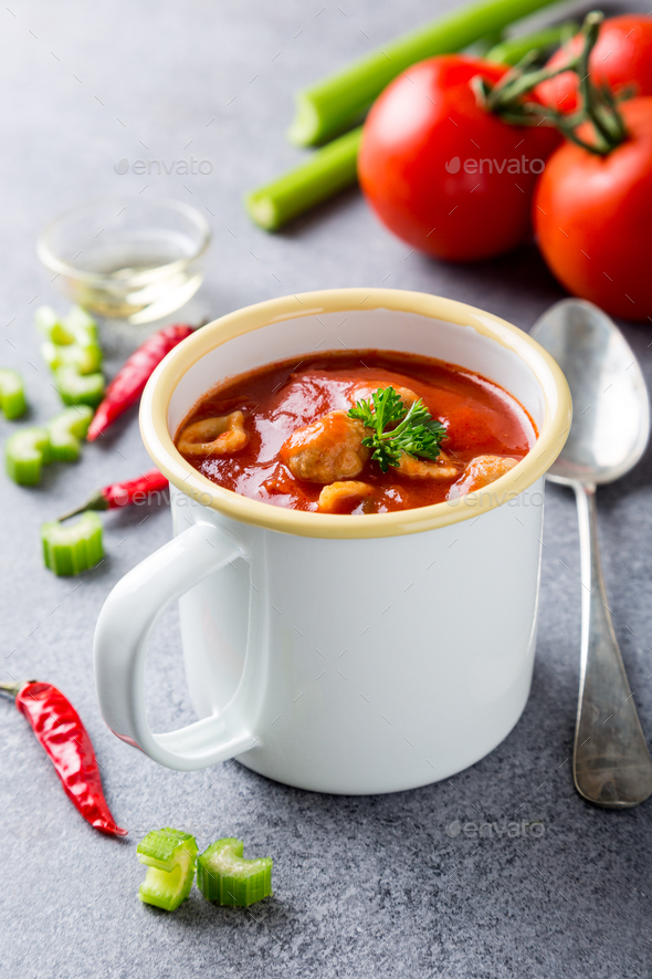 Homemade tomato soup - Stock Photo - Images