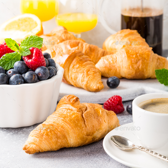 Delicious continental breakfast - Stock Photo - Images