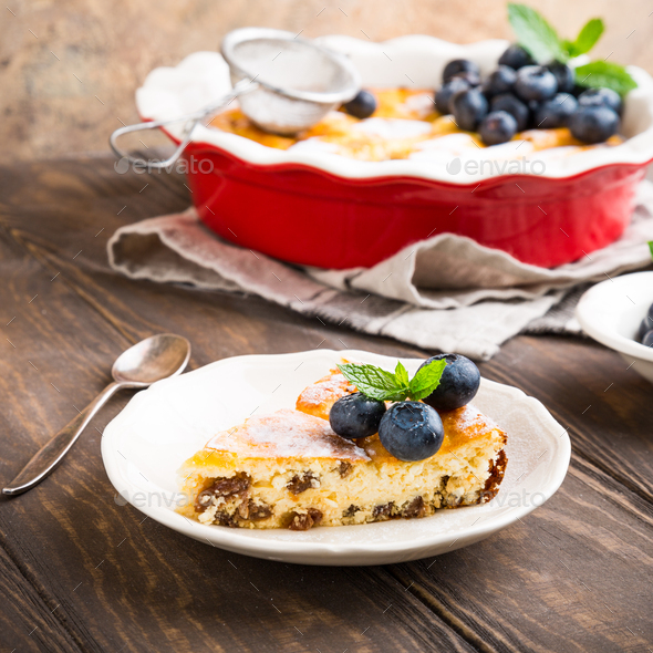 Delicious homemade cheesecake - Stock Photo - Images
