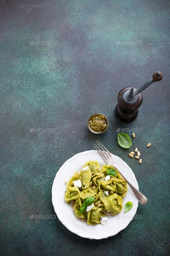 Homemade Italian tortelloni - Stock Photo - Images