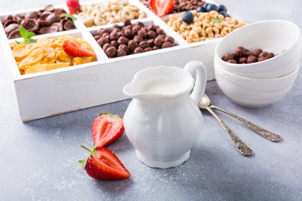 Quick breakfast cereals - Stock Photo - Images