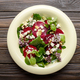 Top view at mediterranean roasted beet salad with walnuts feta c - PhotoDune Item for Sale