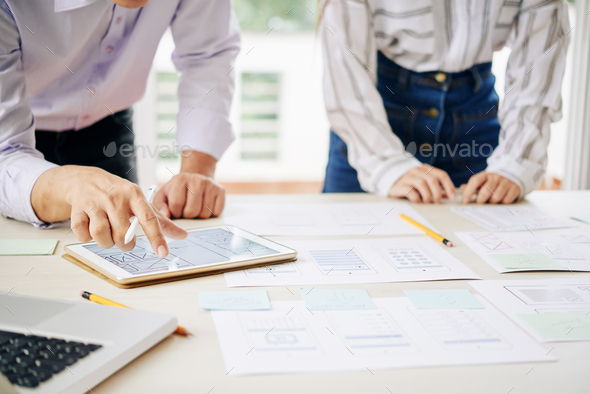 Modern coworkers creating business strategy - Stock Photo - Images