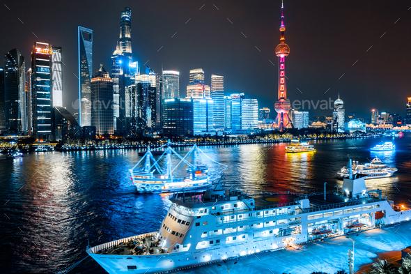 Shanghai skyline - Stock Photo - Images
