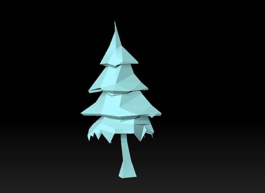 Low Poly Tree - Christmas tree