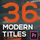 Modern Titles & Lower Thirds - Mogrt - VideoHive Item for Sale
