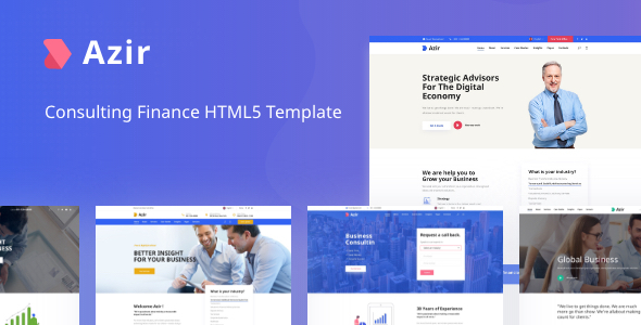 Wonderful Azir | Consulting Finance HTML5 Template