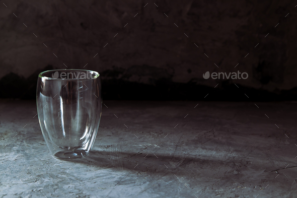 glass on black background - Stock Photo - Images