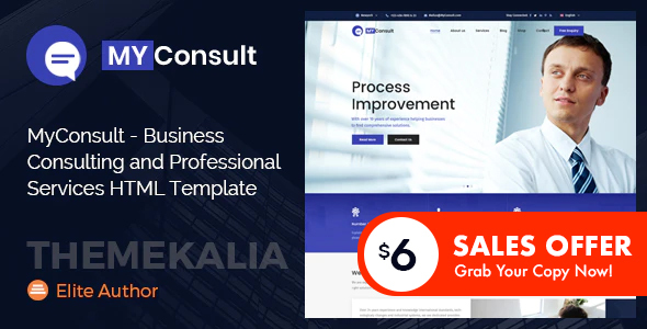 Special MyConsult - Business Consulting and Professional Services HTML Template