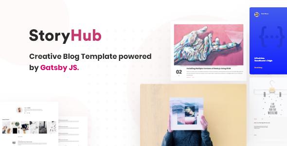 StoryHub - React Gatsby Blog Template by redqteam