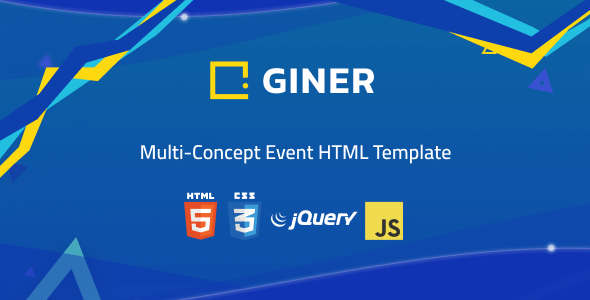 Giner   Multi-Concept Event HTML Template by Rovadex