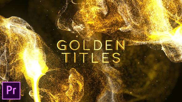 Golden Titles – Premiere pro