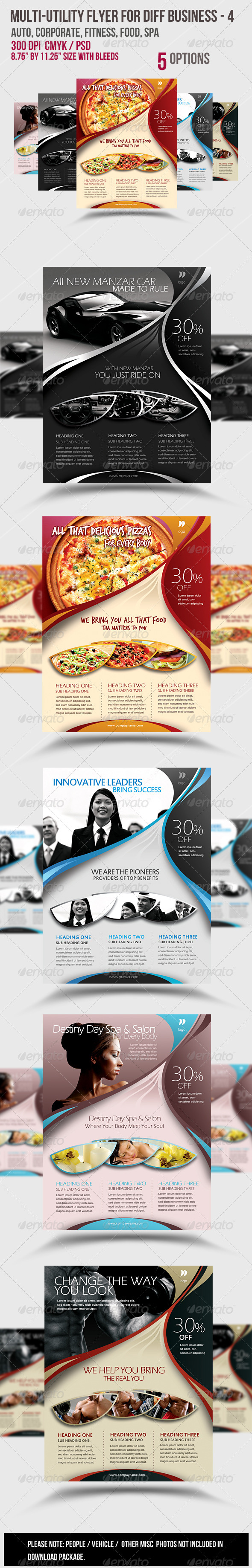 Multi-utility Flyer For Different Business - 4 - Commerce Flyers