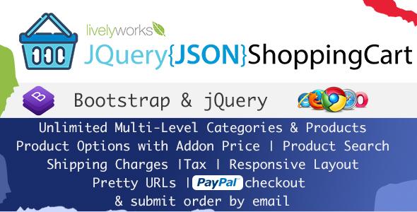 Download codecanyon JQuery JSON Shopping Cart - Store - Shop